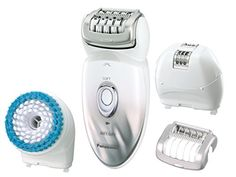 Panasonic Epilator  Exfoliation Brush for Hair Removal and Body Care with Four Attachments and Travel Pouch WetDry ESED64S >>> Visit the image link more details.
