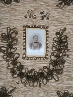 RARE Large Antique Victorian Mourning Hair Wreath Shadow Box | eBay