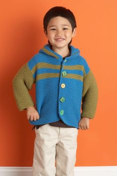 Keep your little one cozy in this soft, colorful jacket. Use fun buttons to add a unique touch.