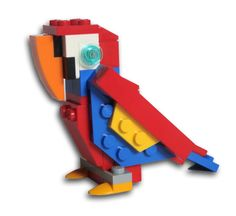 LEGO Polly Parrot wants a LEGO Donut! There it is! A few rows down. kn