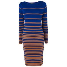 Jaeger Irregular Stripe Knit Dress