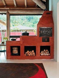 3 veces he visto estas apacibles cocinas de campo. Outdoor Oven, Built In Ovens, Rocket Stoves, Summer Kitchen, Traditional Kitchen, Bbq Grill, Cottage Style, Outdoor Living, Interior Decorating