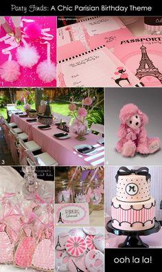 Parisian pink birthday party theme #birthdayparty #parisian #pink