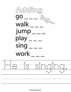 Ing Words, Mini Books, Colouring, Spelling, Worksheets, Singing, Math Equations, Education, Gift