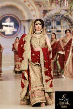 Heavy work red and gold long kurta and lehenga- Pakistani style