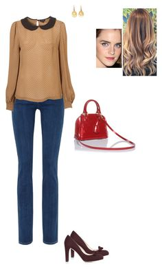 """""""Sem título #1625"""" by gracebeckett on Polyvore featuring Goldsign, Louis Vuitton, Brooks Brothers and L.K.Bennett"""