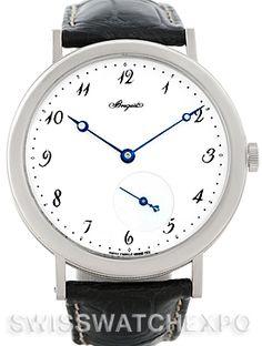 The Classique, is classic!  Breguet Classique 18kt White Gold Automatic Mens Watch 5140