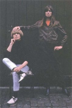 Brian Jones and Francoise Hardy