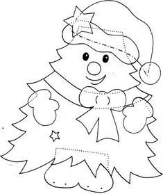 : 130 picture frames and ideas for christmas decoration. - Craft felt and molds - - Crochet Christmas Decorations, Christmas Crafts For Kids, Xmas Crafts, Felt Christmas, Christmas Colors, Christmas Projects, Felt Crafts, Christmas Ornaments, Christmas Cards Drawing