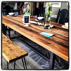 Reclaimed dining table Barn wood reclaimed table