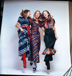 TAFFETA-TASTIC! Tartan and stripes in Vogue Australia, 1972 #vogue365