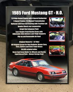 Just got done shipping out a #carshowboards for a very rare (probably because it's bone stock) for a 85 #ford #mustang #gtho ! Get one for your car at showcarsign.com #fordmustang #foxbody #foxbodymustang #fordmustanggt #mustanggt #mustanggtho #foxbodynation #fordfiveoh #fiveohmustang #5point0