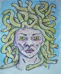 How To Draw Medusa Face With Snakes Worksheet Drawing Lessons, Art Lessons, Medusa Art, Free Printable Art, Winter Art, Ancient Greece, Easy Drawings, Art Projects, My Design