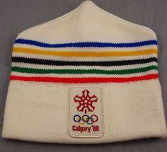 7494a82b846 Olympics Calgary 1988 Vintage Stocking Cap Winter Hat Skiing Ski Canada   Unknown  StockingCap