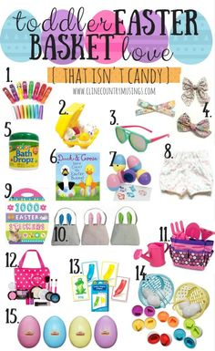 75 cute ideas for making a toddlers easter basket plus this these affordable easter basket filler ideas are perfect for toddler and preschoolers alike and wont induce a candy coma negle Gallery