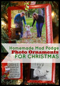 Create a family tradition DIY craft every Christmas by making yearly photo ornaments for the tree. In this tutorial I show you how to make mod podge photo ornaments for Christmas! Great for gifts! Frugal Christmas, Christmas Planning, A Christmas Story, All Things Christmas, Holiday Crafts, Christmas Ideas, Merry Christmas, Holiday Fun, Holiday Ideas