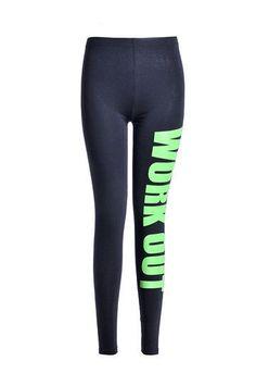 Women's S-XL Work Out Letter Printed Black Fitness Leggings Casual Sexy Modal Sportwear Leggings Sport Leggings 9 Color