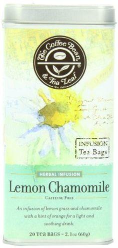 The Coffee Bean & Tea Leaf, Tea, Hand-Picked Lemon Chamomile, 20 Count Tin - http://teacoffeestore.com/the-coffee-bean-tea-leaf-tea-hand-picked-lemon-chamomile-20-count-tin/