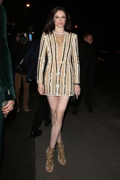Coco Rocha looked sweeeet at the Balmain SS16 Paris Fashion Week after-party.
