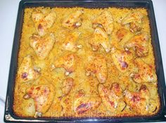 Skrzydełka na ryżu - PrzyslijPrzepis.pl Lasagna, Macaroni And Cheese, Meals, Chicken, Cooking, Ethnic Recipes, Food, Polish, Kitchen