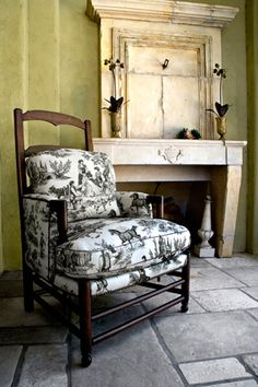 Cavalier Toile in Soft Black on Cream for Charles Faudree's fabric collection with Vervain.