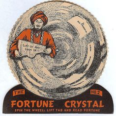 """BEISTLE U.S.A. 1948 Vintage Halloween """"Fortune Crystal's Game #2"""" Near Mint!"""