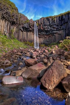 Svartifoss falls in Skaftafell National Park, Iceland Places Around The World, The Places Youll Go, Places To See, Around The Worlds, Beautiful Waterfalls, Beautiful Landscapes, Image Nature, Iceland Travel, The Great Outdoors