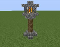 Medieval Nordic Lightpost - GrabCraft - Your number one source for MineCraft buildings, blueprints, tips, ideas, floorplans!