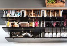 Small IKEA Kitchen Storage in Open Kitchen Design — Renacci for Home Ikea Kitchen Storage, Ikea Kitchen Design, Ikea Kitchen Cabinets, Kitchen Cabinet Organization, Kitchen Furniture, Furniture Design, Kitchen Ideas, Kitchen Tips, Organization Ideas