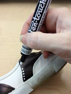Cheap white shoes + Sharpie+ white paint pen= super awesome saddle shoes!