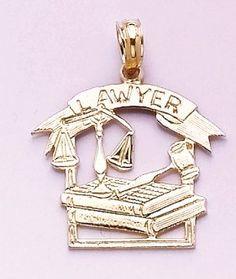 Lawyer 14k gold charm