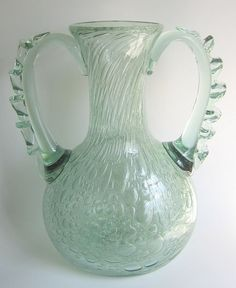 MCM Barovier Toso Murano Art Glass Vase Efeso Bubbles #Murano