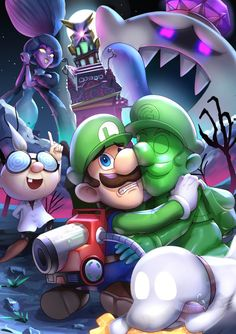 Super Mario Bros, Mario Bros Y Luigi, Mundo Super Mario, Super Mario World, Mario Kart, Luigi And Daisy, Luigi's Mansion 3, Mario Fan Art, King Boo
