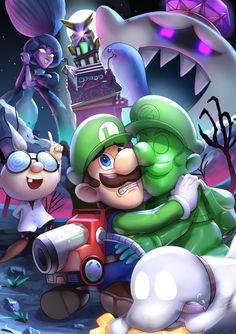 Super Mario Bros, Mundo Super Mario, Super Mario World, Luigi's Mansion 3, Mario Fan Art, King Boo, Paper Mario, Mario Kart, Video Game Art