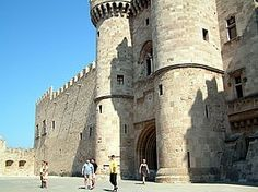 Grandmaster Palace in the Old City of Rhodes. The Palace of the Grandmaster is the single most impressive site in Rhodes if not all of the Dodecanesos and the interior is no less awe-inspiring than the formidable outer walls. Within the enormous castle are relics from the medieval period as well as ancient sculptures and beautiful 1st century floor mosaics which were brought to Rhodes from the island of Kos.