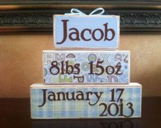 Personalized my wish for you sign on wood or canvas personalized personalized baby gift baby blocks gift for baby boy personalized gift wood negle Gallery