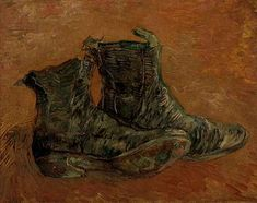 Vincent van Gogh: Pair of Shoes. Oil on paper on cardboard. Paris: first half of 1886. Amsterdam: Van Gogh Museum.