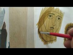 Writing Icon, John Chrysostom, Hyperrealism, Painting Videos, Sacred Art, Christian, Artwork, Artist, Diy