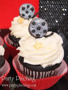 Movie Cupcakes - Party Planning - Party Ideas - Cute Food - Holiday Ideas -Tablescapes - Special Occasions And Events - Party Pinching