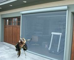 Motorized Garage Door Screen