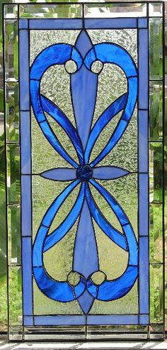 ♥★♥Blue Stained Glass Panel♥★♥