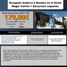 Atrevete a la NIEVE!!!  Hotel Magic Canillo  http://www.travelenaccion.com/info/2226/superchollo6.php