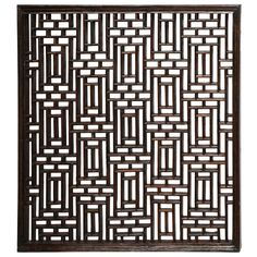 View this item and discover similar for sale at - A wood lattice screen or panel in a traditional Chinese pattern. Lattice Screen, Metal Screen, Op Art, Asian Wall Decor, Cnc, Partition Screen, Window Screens, Antique Chinese Furniture, Chinese Design