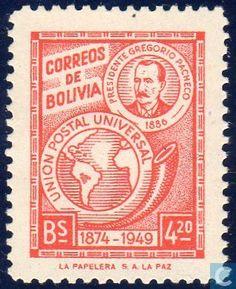 Stamps - Bolivia [BOL] - 75 years of UPU 1950