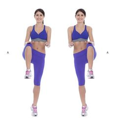 High knees workout for burning belly fat