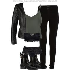 Derek Hale Inspired Casual Valentine's Day Outfit