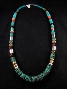 Tommy Singer Necklace Navajo Turquoise Silver Necklace Native American 30 Long | eBay