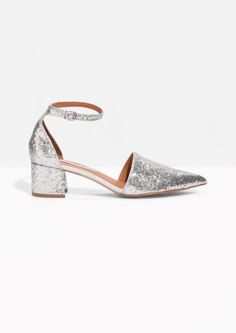 & Other Stories | Silver Sequin Pumps