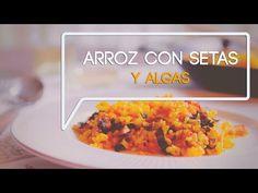 Receta de paella de arroz con setas y algas, fácil y sana - YouTube