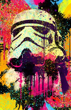 I wanna make something like this on photoshop one day...stormtrooper pop art.